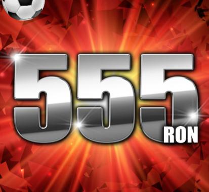 Cel mai bun bonus la pariuri - 555 Ron!!!