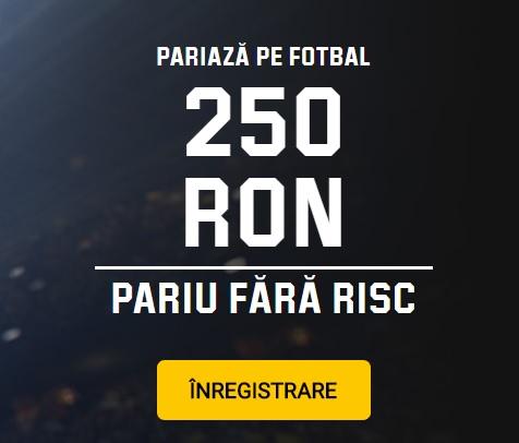 Ia-ti pariul GRATUIT de 250 Ron